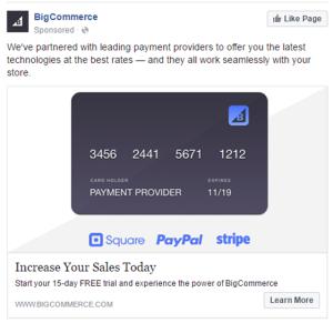 Direct Response BigCommerce FB Ad